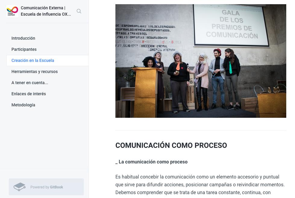 Documentación Escuela de Influencia | Oxfam y Nodo Común 2018