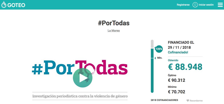 #PorTodas | crowdfunding La Marea